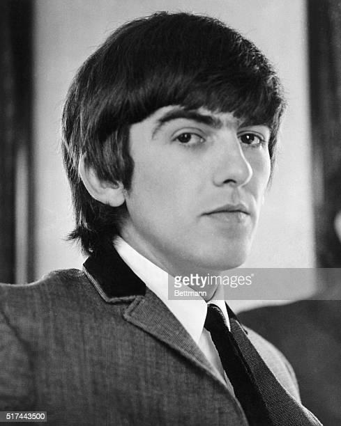 Portrait of guitarist George Harrison of The Beatles circa 1965