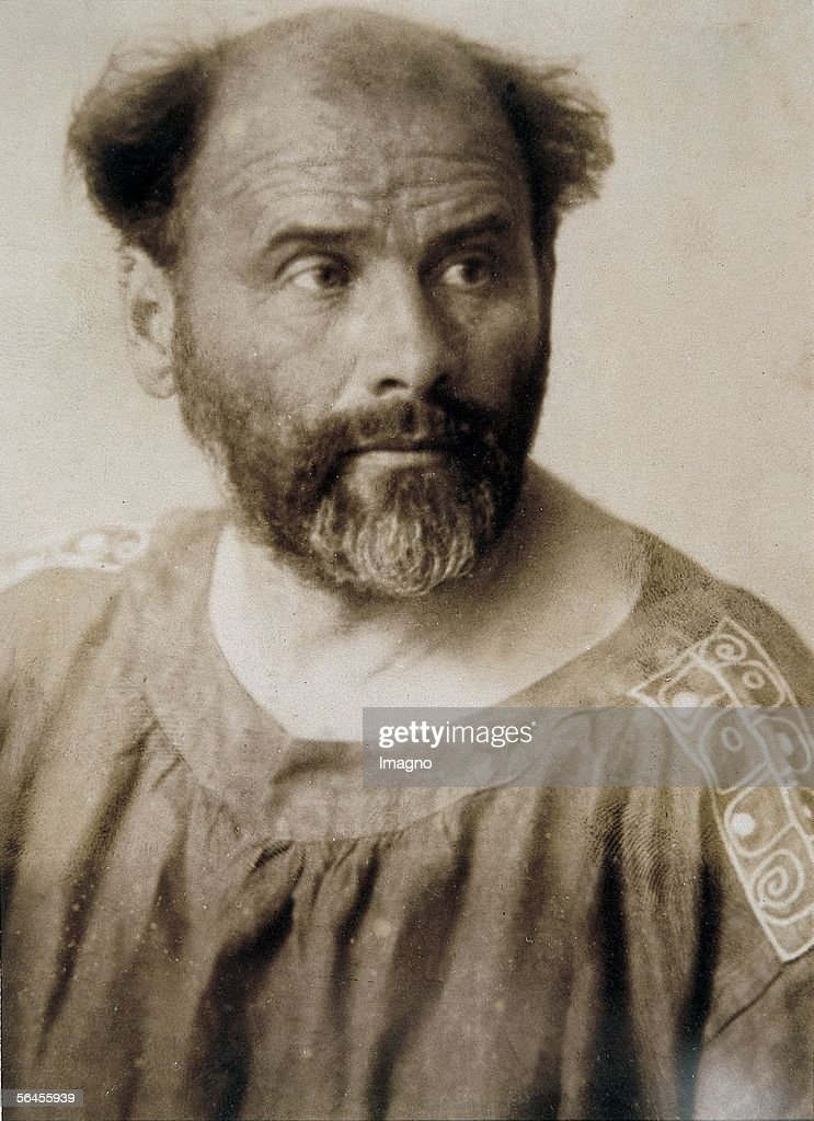 Portrait of <a gi-track='captionPersonalityLinkClicked' href=/galleries/search?phrase=Gustav+Klimt&family=editorial&specificpeople=98921 ng-click='$event.stopPropagation()'>Gustav Klimt</a>. Photography by Anton Trcka (Antios). 1914. (Photo by Imagno/Getty Images) [Portrait <a gi-track='captionPersonalityLinkClicked' href=/galleries/search?phrase=Gustav+Klimt&family=editorial&specificpeople=98921 ng-click='$event.stopPropagation()'>Gustav Klimt</a>. Photographie von Anton Trcka (Antios). 1914.]