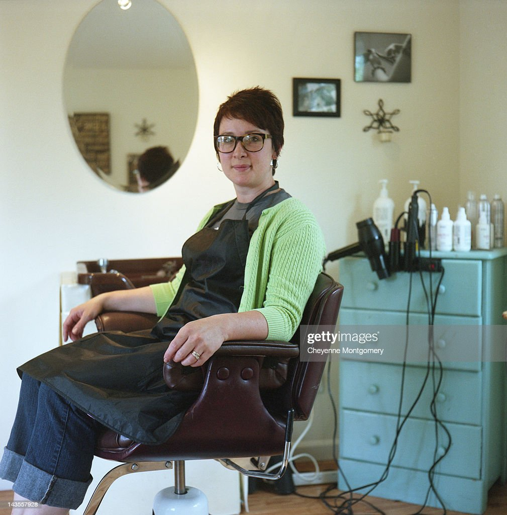 Portrait of hair dresser : Stock Photo