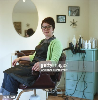 Portrait of hair dresser : Stock Photo