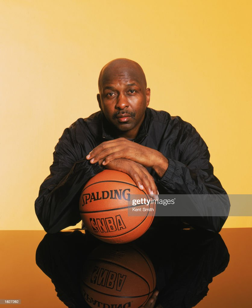Portrait of Hall of Famer <a gi-track='captionPersonalityLinkClicked' href=/galleries/search?phrase=Moses+Malone&family=editorial&specificpeople=213188 ng-click='$event.stopPropagation()'>Moses Malone</a> during the 2003 All-Star Weekend on February 9, 2003 in Atlanta, Georgia. NBA's 50th Anniversary All-Time Team Malone was a twelve time NBA All-Star, four time NBA MVP, and finals MVP. Legends Portraits