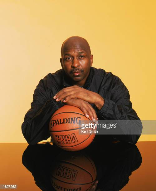 Portrait of Hall of Famer Moses Malone during the 2003 AllStar Weekend on February 9 2003 in Atlanta Georgia NBA's 50th Anniversary AllTime Team...