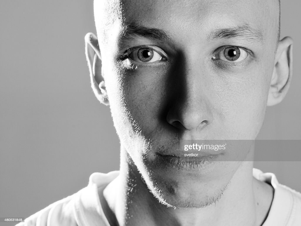 Portrait of handsome attractive young man : Stock Photo
