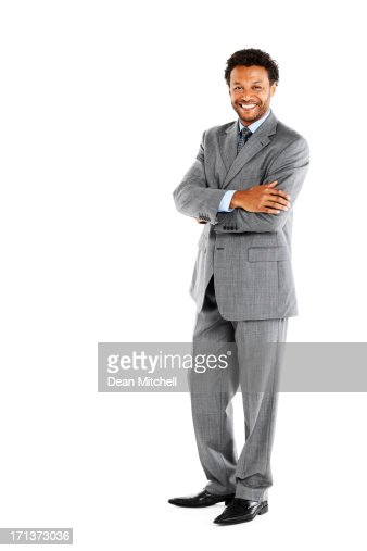 Portrait of handsome business man on white