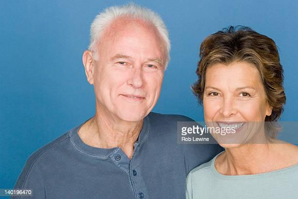 Portrait of happy ageing couple