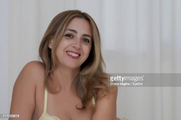 Portrait Of Happy Beautiful Woman At Home