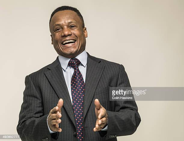 Portrait of happy black business manHappiness