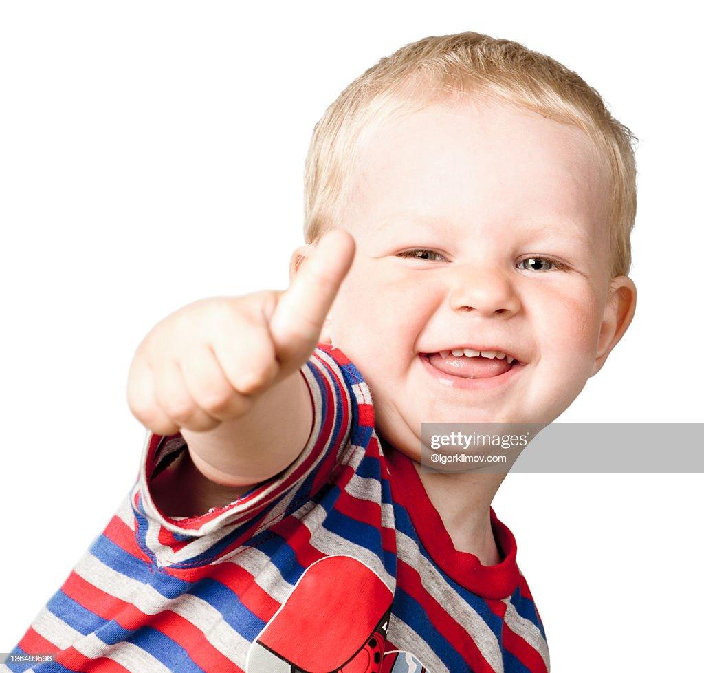 Portrait of happy boy : Stock Photo