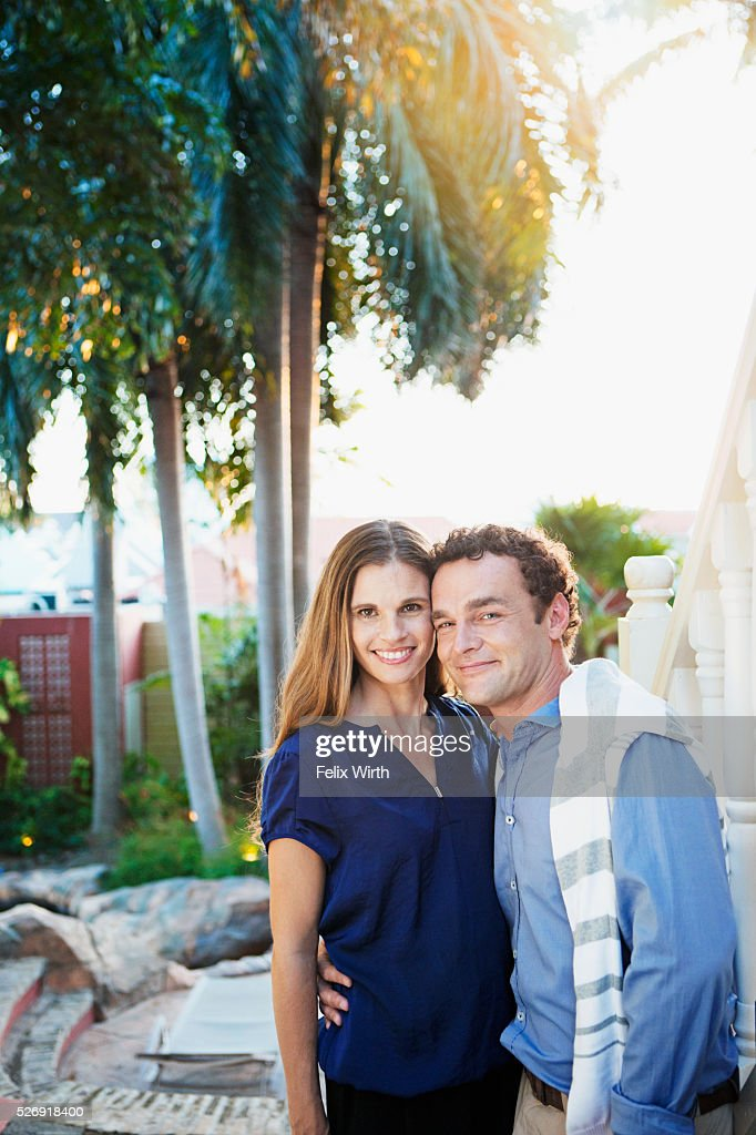 Portrait of happy couple : Stock-Foto