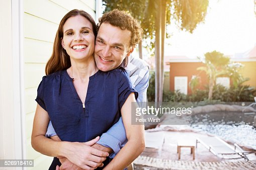 Portrait of happy couple : Foto de stock
