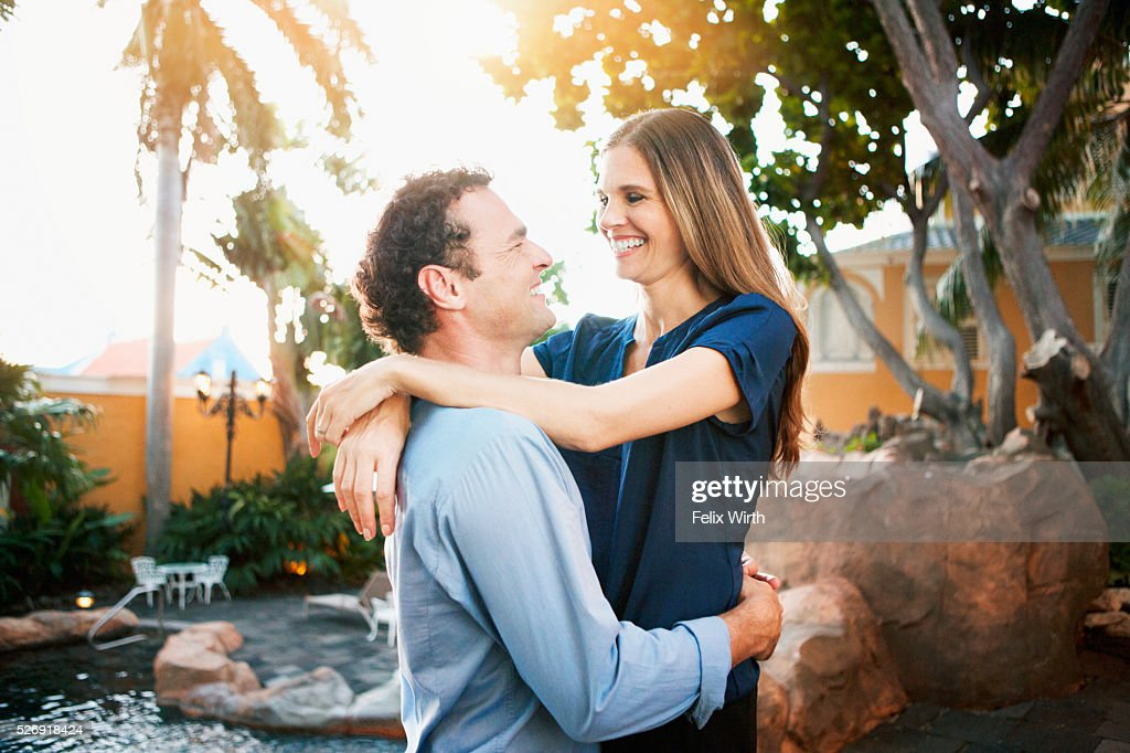 Portrait of happy couple : Stock Photo