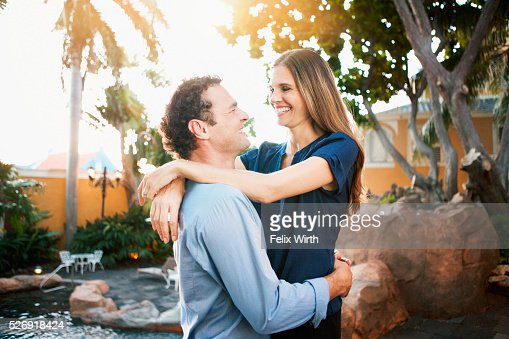 Portrait of happy couple : Stockfoto