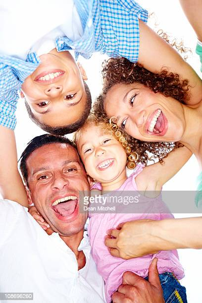 Portrait of happy family  laughing