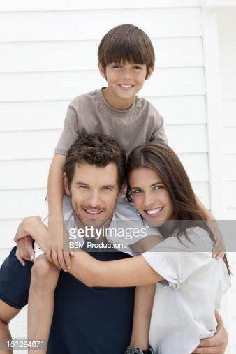 Portrait Of Happy Family : Stock Photo