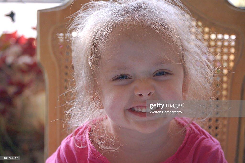 Portrait of happy girl : Stock Photo