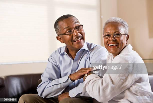Portrait of happy senior African American couple