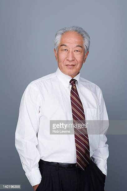 Portrait of happy senior businessman