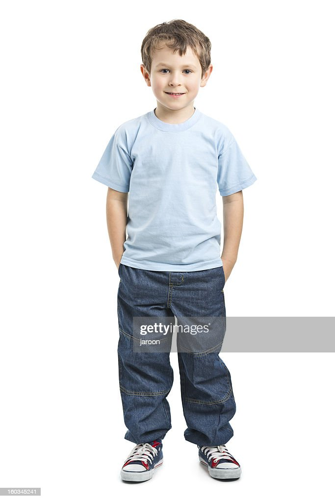 portrait of happy small boy
