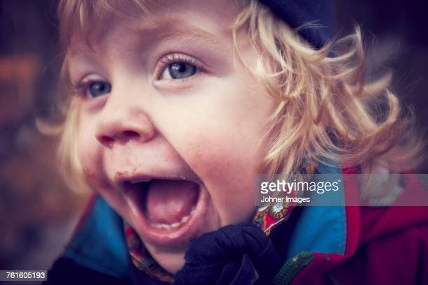 Portrait of happy toddler girl