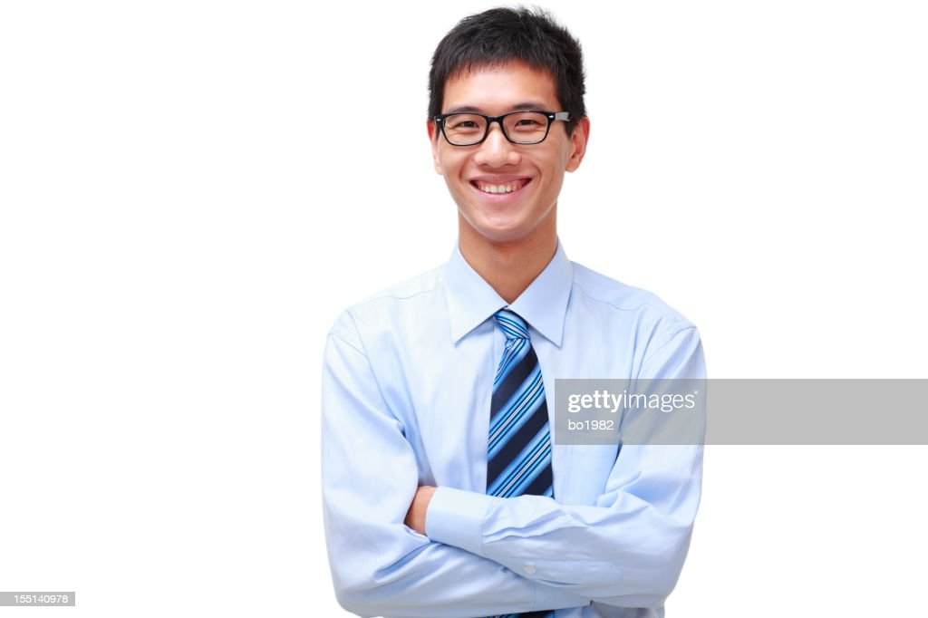portrait of happy young asian businessman : Stock Photo