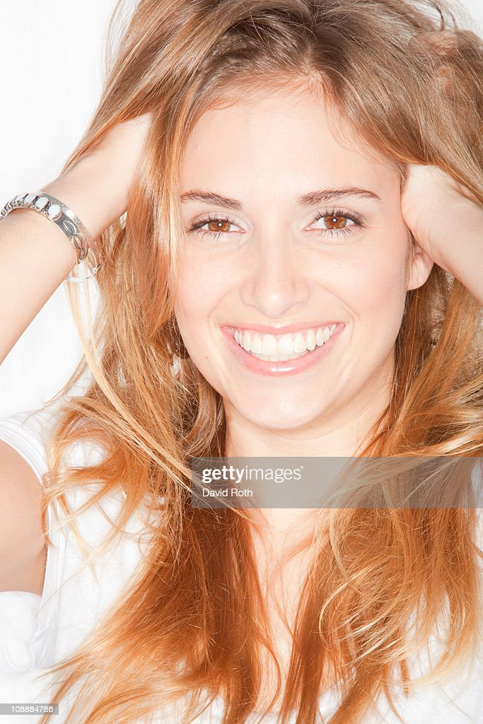 Portrait of happy young woman.