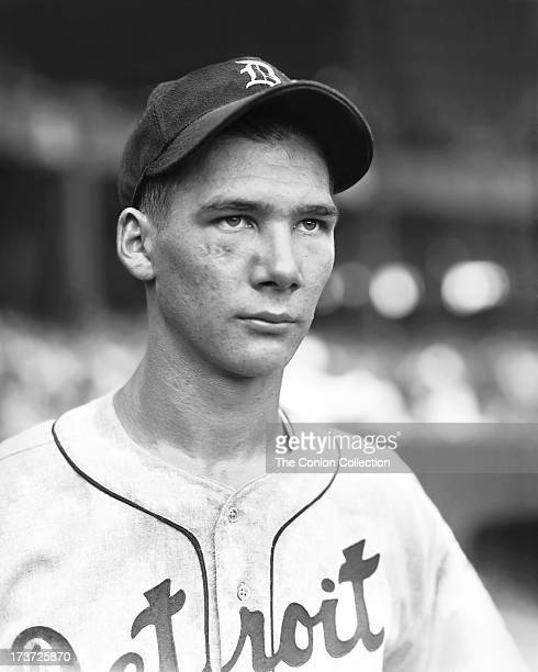 A portrait of Harold Newhouser of the Detroit Tigers in 1939