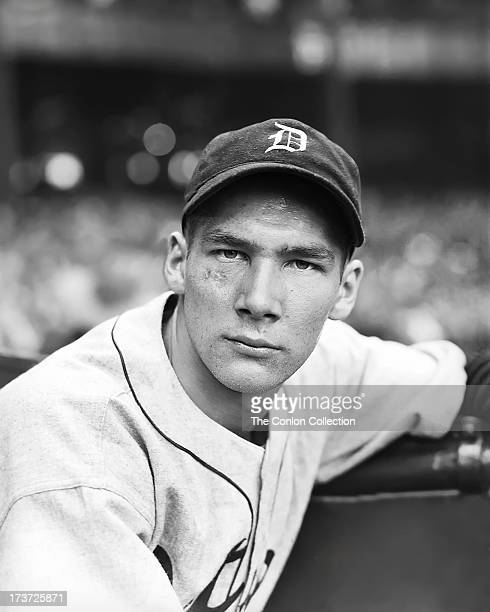 A portrait of Harold Newhouser of the Detroit Tigers in 1940