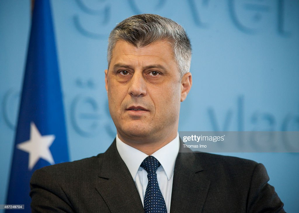 Portrait of <a gi-track='captionPersonalityLinkClicked' href=/galleries/search?phrase=Hashim+Thaci&family=editorial&specificpeople=781147 ng-click='$event.stopPropagation()'>Hashim Thaci</a>, Prime Minister of Kosovo on August 11, 2011, in Pristina, Kosovo.
