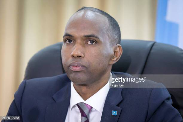 Portrait of Hassan Ali Khaire Prime Minister of Somalia on May 01 2017 in Mogadischu Somalia