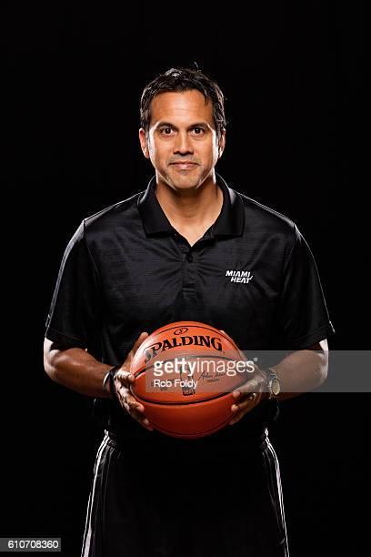A portrait of head coach Erik Spoelstra of the Miami Heat on September 26 2016 in Miami Florida