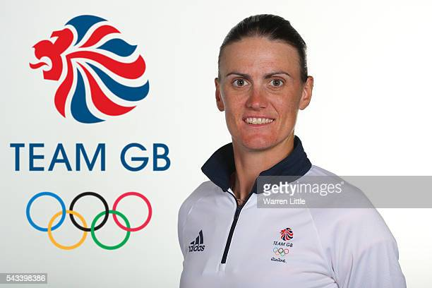 A portrait of Heather Stanning a member of the Great Britain Olympic team during the Team GB Kitting Out ahead of Rio 2016 Olympic Games on June 26...