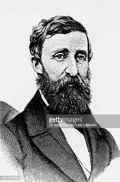 Portrait of Henry David Thoreau philosopher and writer engraving from a photograph taken in 1861 United States of America 19th century