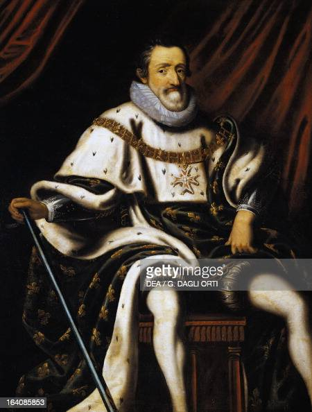 Portrait of Henry IV of France King of France and Navarre Painting of early 17th century Chambord Castle Musee De La Chasse Et De La Nature