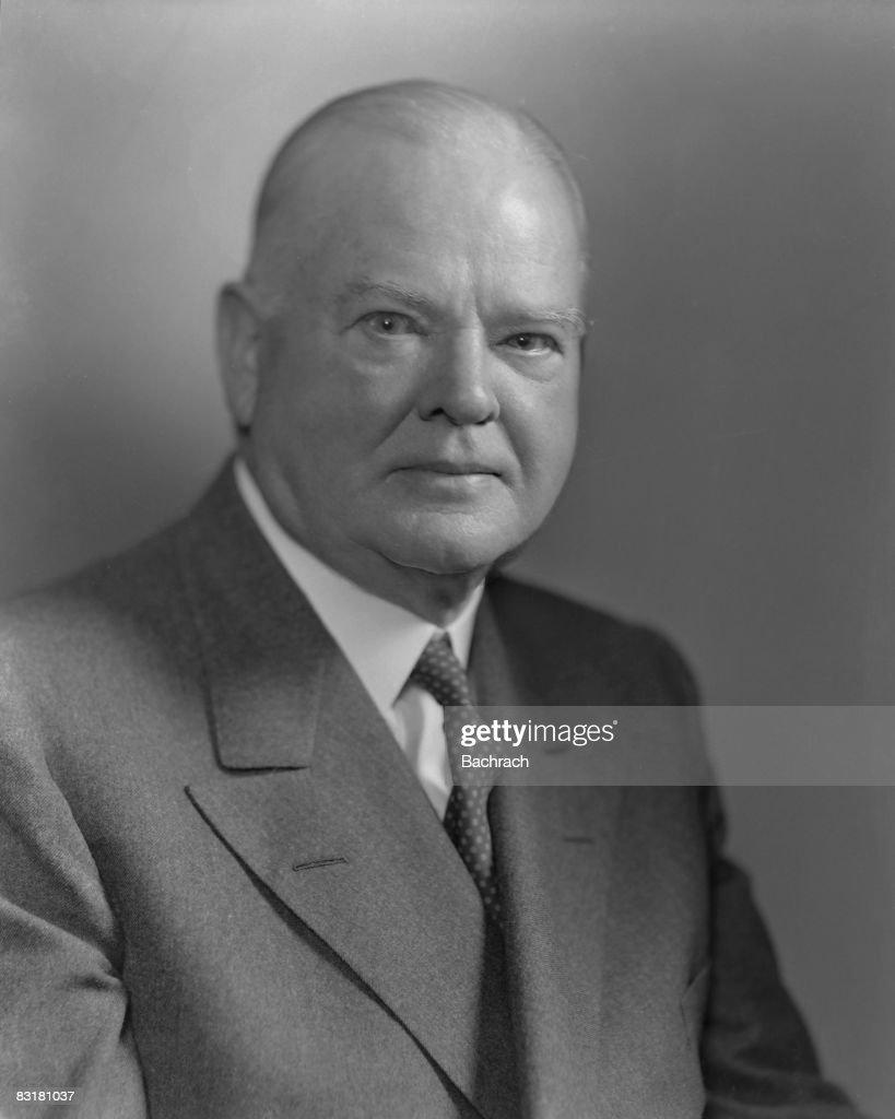 Portrait of Herbert Hoover (1874 - 1964), the 31st president of the United States, New York, 1947.