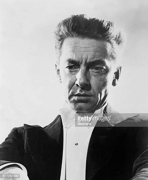 Portrait of Herbert Von Karajan world famous conductor of Berlin Philharmonic Orchestra