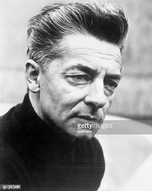 Portrait of Herbert von Karajan world renown orchestral leader and conductor of the Berlin Philharmonic Symphony