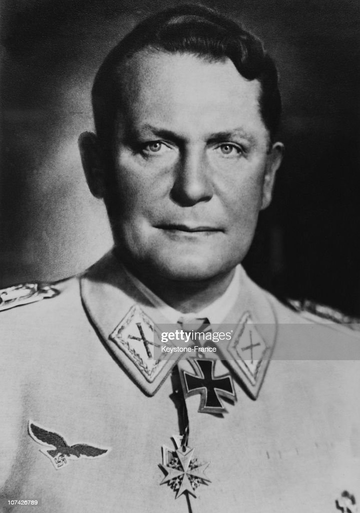 Portrait Of <a gi-track='captionPersonalityLinkClicked' href=/galleries/search?phrase=Hermann+Goering&family=editorial&specificpeople=93518 ng-click='$event.stopPropagation()'>Hermann Goering</a> In Germany On 1943