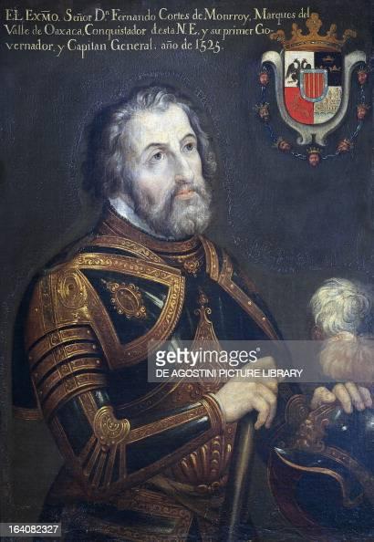 Portrait of Hernan Cortes Spanish explorer and conquistador Painting 1525 Oaxaca Museo De Las Culturas De Oaxaca