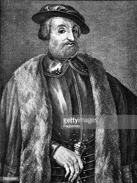 A portrait of Hernan Cortes the Spanish conquistador and conqueror of Mexico