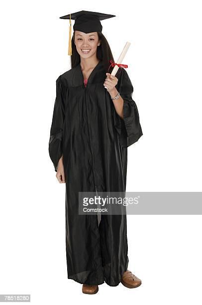 Portrait of high school graduate
