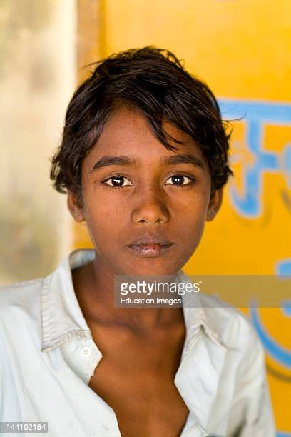 Portrait Of Hindu In Small Village Of Charu Near Ranthambore In Rajasthan India
