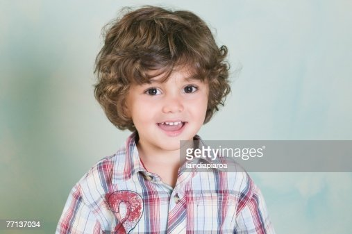 Portrait of Hispanic boy : Stock Photo