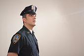 Portrait of Hispanic Police Officer