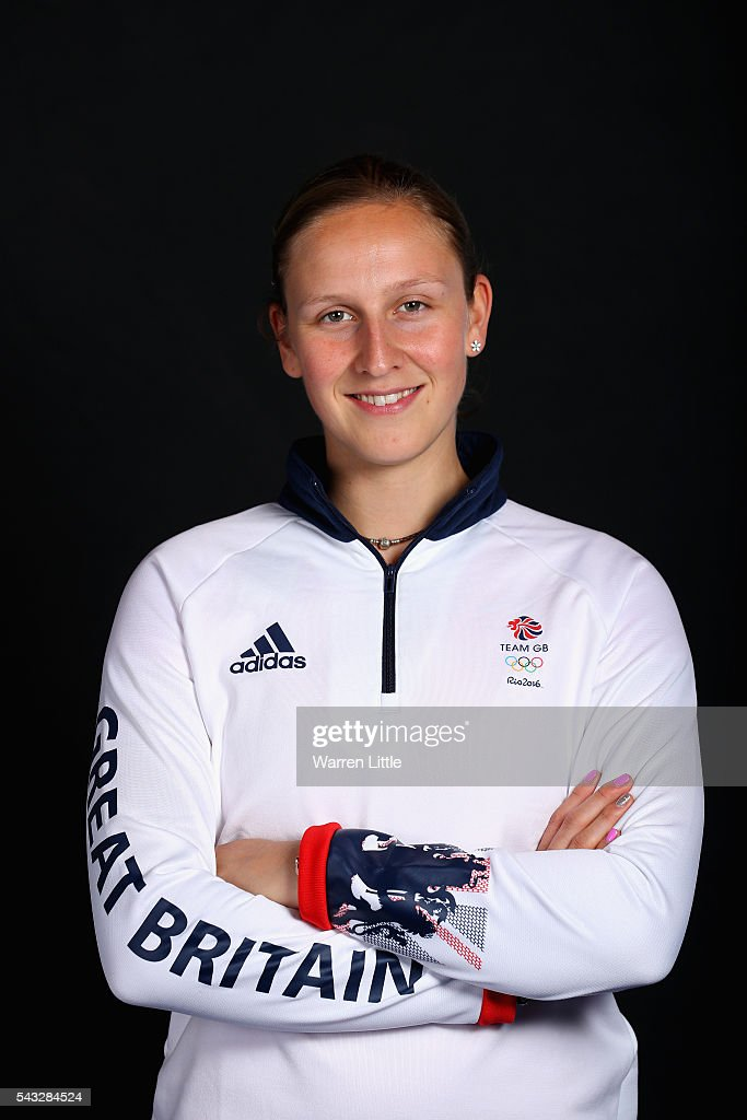 A portrait of <a gi-track='captionPersonalityLinkClicked' href=/galleries/search?phrase=Holly+Bradshaw&family=editorial&specificpeople=5910118 ng-click='$event.stopPropagation()'>Holly Bradshaw</a> a member of the Great Britain Olympic team during the Team GB Kitting Out ahead of Rio 2016 Olympic Games on June 27, 2016 in Birmingham, England.