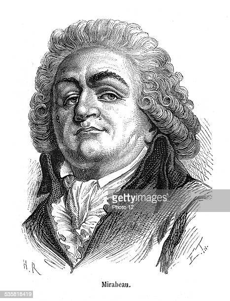 Portrait of Honoré Gabriel Riqueti comte de Mirabeau French writer and politician he took part in the revolutionary movements during the French...