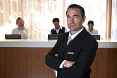 Portrait of hotel manager.