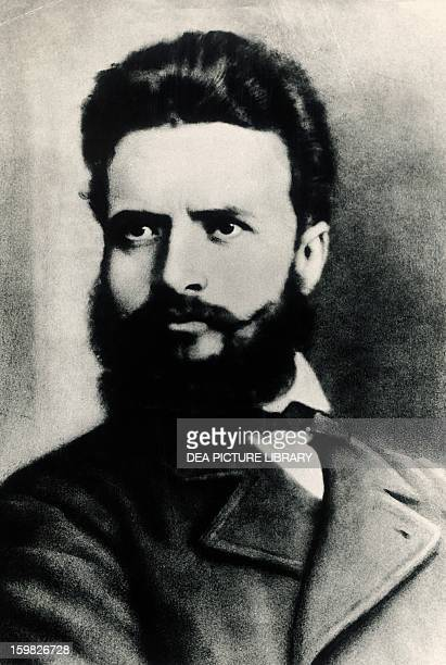 Portrait of Hristo Botev Bulgarian poet and journalist also known as a revolutionary and national hero