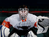 Portrait of Ice Hockey Goaltender