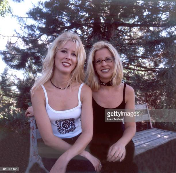 Portrait of identical twin sisters Heather and Jennifer Kinley who perform as The Kinleys Twin Lakes Wisconsin July 3 1998