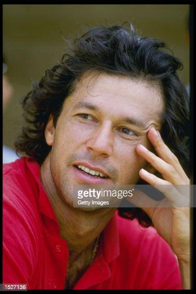 A portrait of Imran Khan the captain of Pakistan Mandatory CreditAllsport UK